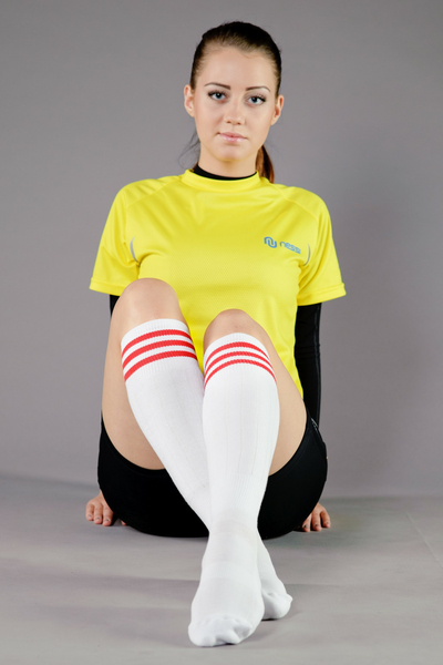 Cotton knee-high socks - 1-P