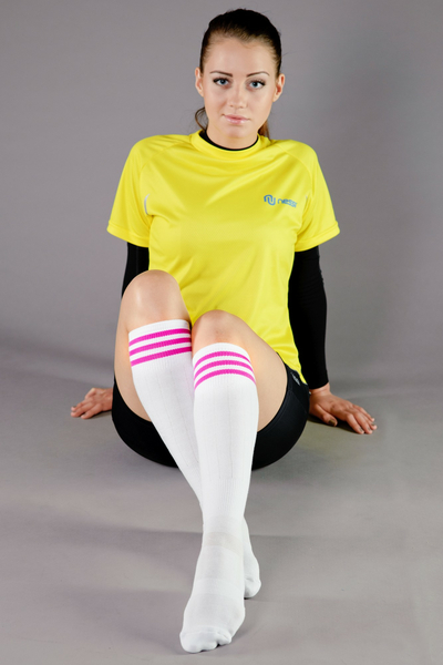 Cotton knee-high socks - 2-P