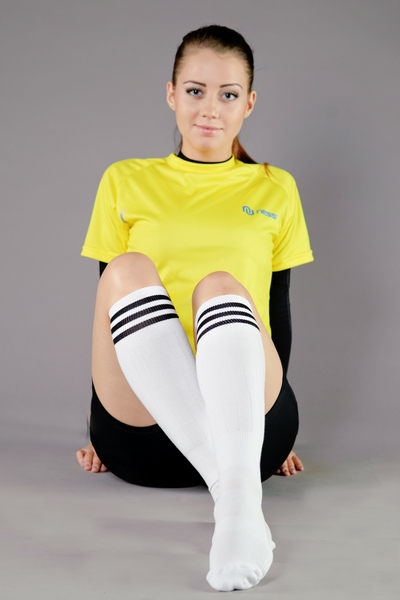 Cotton knee-high socks - 3-P