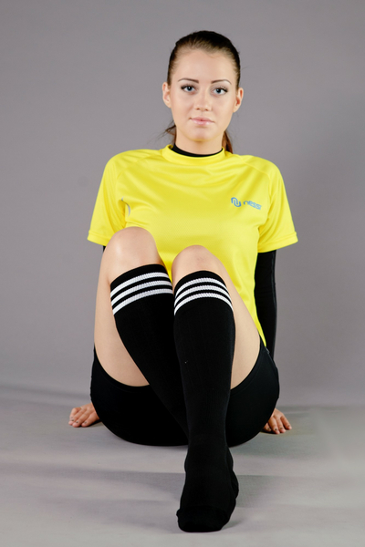 Cotton knee-high socks - 4-P