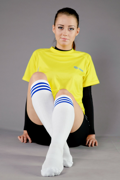 Cotton knee-high socks - 8-P