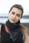 Thermoactive Triangular Scarf Galaxy Black - AT-9G90
