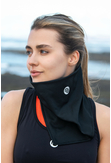 Thermoactive Triangular Scarf Total Black - AT-09 - packshot