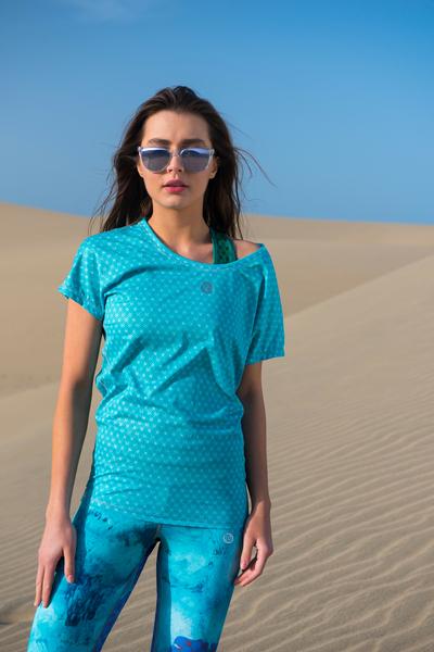 Lockeres T-Shirt Galaxy Turquoise - OTD-9G6