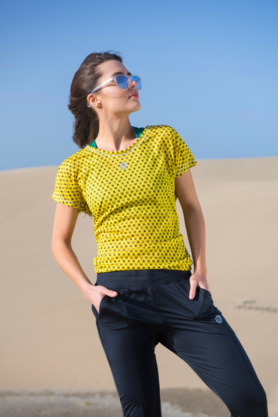 Lockeres T-Shirt Galaxy Yellow - OTD-9G1