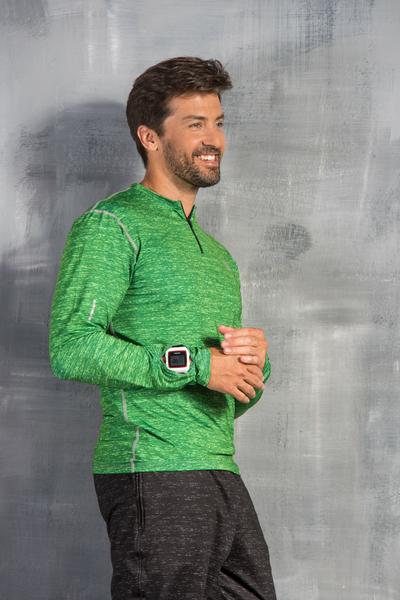 Training sweatshirt Zip Green Melange - LBMZ-612