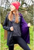 Bluza Parka Black-Galaxy Violet - PRB-90-40 - packshot