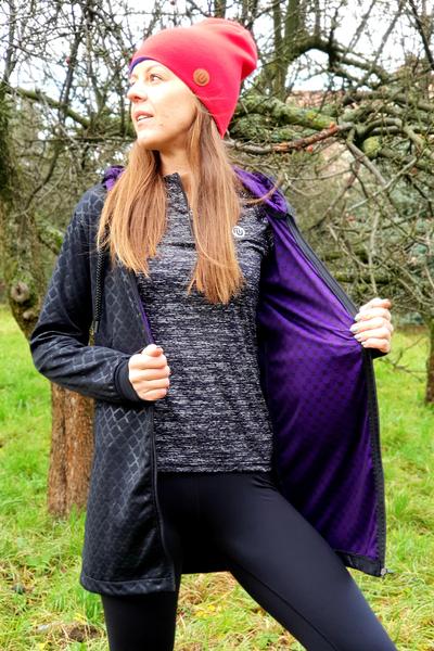 Bomber jacket Parka Black-Galaxy Violet - PRB-90-40
