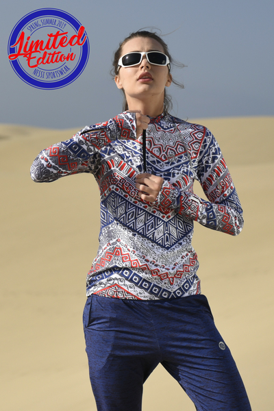Training sweatshirt with long sleeves Aztec - LBKZ-9A1