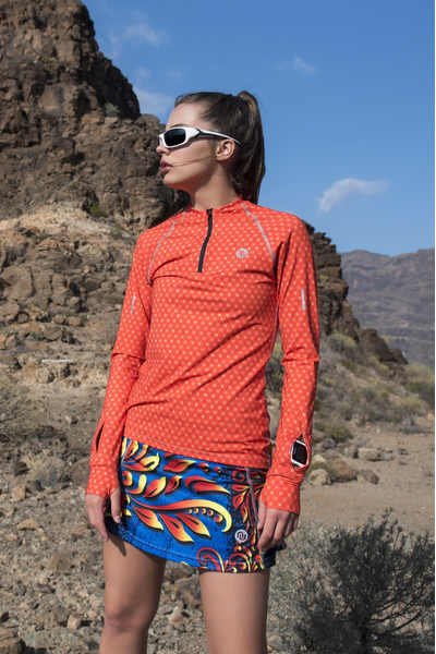 Training sweatshirt with long sleeves Galaxy Coral - LBKZ-9G3