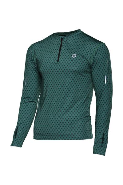 Bluza treningowa Zip Galaxy Green - LBMZ-9G5