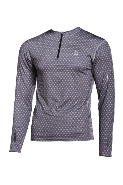 Training sweatshirt ZIP Galaxy Grey  - LBMZ-9G9