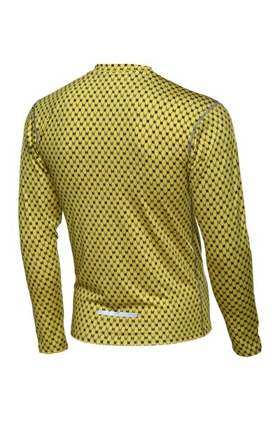 Training sweatshirt ZIP Galaxy Yellow - LBMZ-9G1