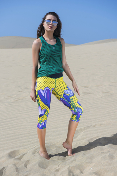 Premium Leggings 3/4 4K UltraHD Crocuses - OSTP-1VK