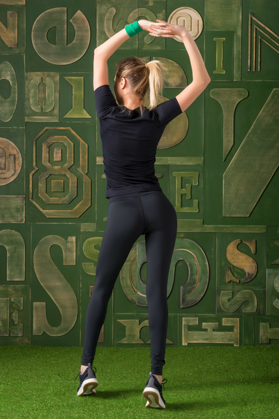 Leggings For Exercise Black - OSLPC-90