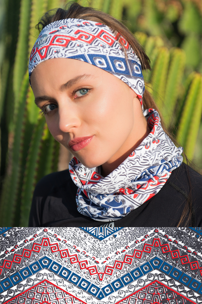 Summer Breathable Neck Warmer Aztec - ABL-9A1