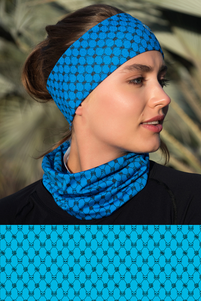 Summer Breathable Neck Warmer Galaxy Blue - ABL-9G7