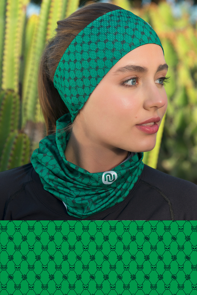 Summer Breathable Neck Warmer Galaxy Green - ABL-9G5