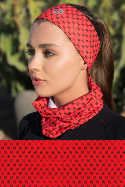 Summer Breathable Neck Warmer Galaxy Red - ABL-9G4