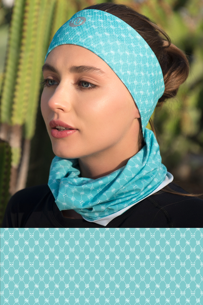 Summer Breathable Neck Warmer Galaxy Turquoise - ABL-9G6