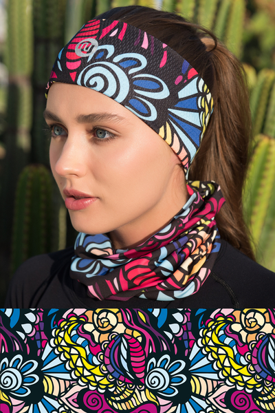 Summer Breathable Neck Warmer Mosaic Comics - ABL-92