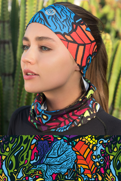 Summer Breathable Neck Warmer Mosaic Reef - ABL-9M1