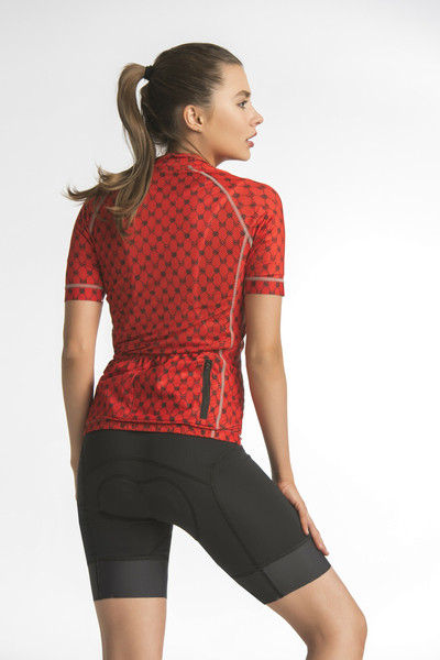Damen Radtrikot Galaxy Red - KKK-9G4