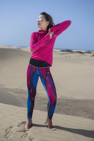 Running Leggings Pink Butterfly - OSLZ-9B2