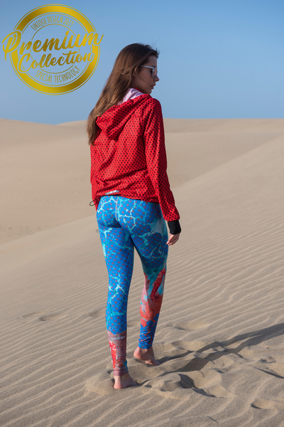 Running Leggings 4K UltraHD Premium Coral Reef - OSLZ-1VR