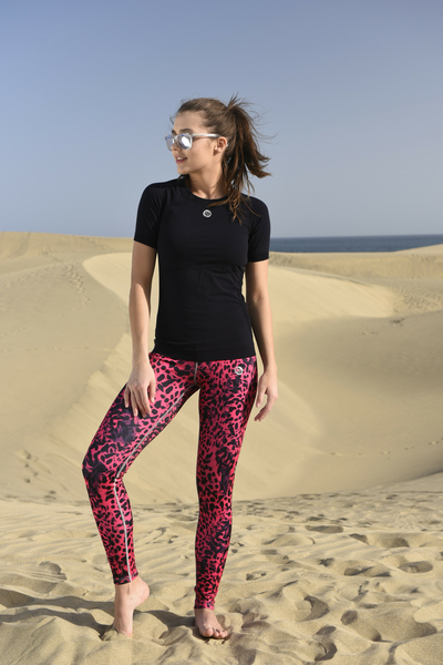 Running Leggings with a belt Pink Panther - OSLP-9K1