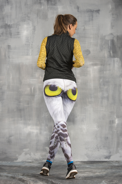 Running Leggings with a belt Angry Owl's Eyes - OSLP-94