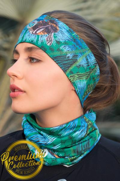 Ultra Headband Cornflowers and Bumblebees - AOL-1VP