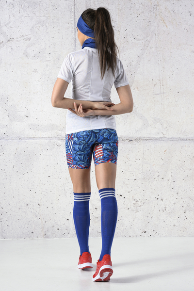 Cotton knee-high socks - 9-P