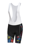 Bike shorts with braces Mosaic Reef - KSK-9M1 - packshot