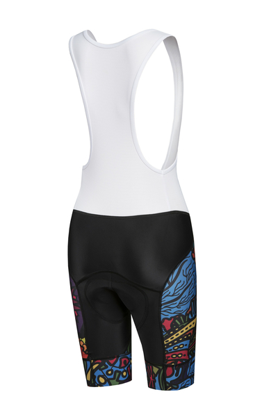 Bike shorts with braces Mosaic Reef - KSK-9M1