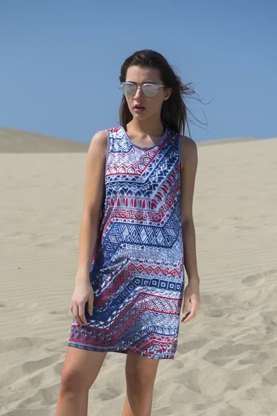 Summer Dress Aztec - OSS-9A1
