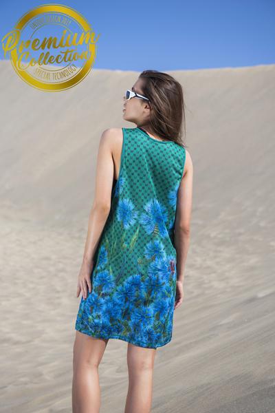 Summer Dress Cornflowers and Bumblebees - OSS-1VP