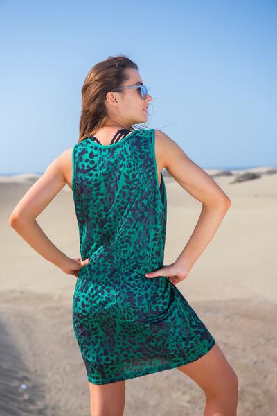 Summer Dress Green Panther - OSS-9K2