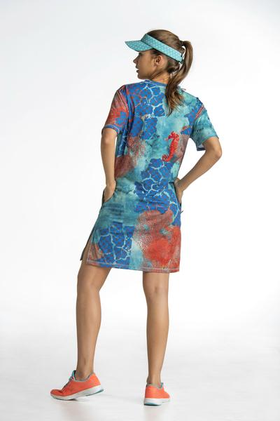 Sukienka Letnia Rafa Koralowa - OSS2-1VR