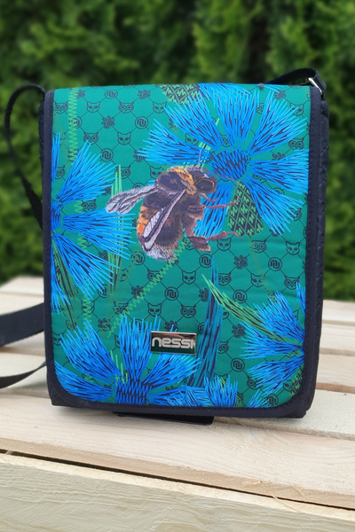 Messenger bag Cornflowers and Bumblebees - TLR-1VP