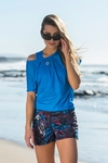 Bat T-shirt Mirage Blue - OTD-11X7