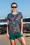 Bat T-shirt Mosaic Flora - OTD-11M4