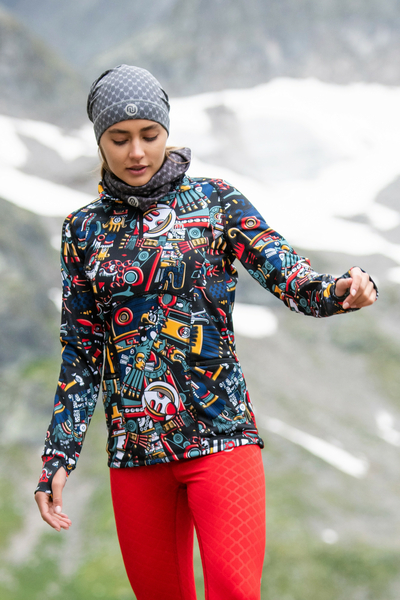 Insulated Sweatshirt Zip Mosaic Metzli - HOZ-10M4