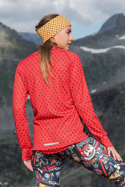 Insulated Sweatshirt Zip Galaxy Red - HOZ-9G4D
