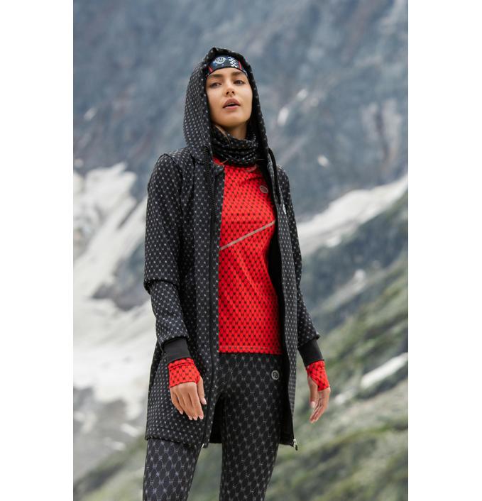 Bomber jacket long Galaxy Black - NVKD-9G90 - packshot