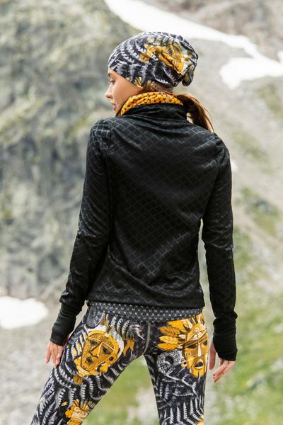 Zippered sweatshirt Shiny Black II Quality - HRD-90-G2