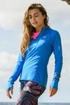 Training sweatshirt Zip Mirage Blue - LBKZ-11X7