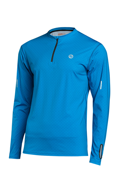 Trainingsshirt langarm Zip Mirage Blue - LBMZ-11X7