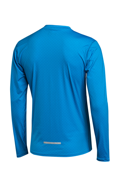 Trainingsshirt langarm Zip Blue Mirage - LBMZ-11X7