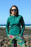 Training sweatshirt Zip Mirage Green - LBKZ-11X5